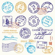 Vintage Postmark Stamp Vector ...