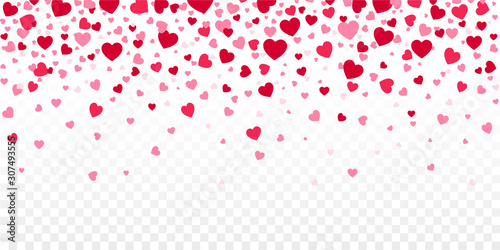 Red Confetti Hearts Falling Canvas-taulu