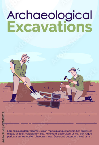 Photo Archaeological excavations brochure template