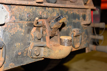 Old Trailer Hitch On Truck