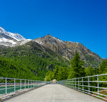 Ceresole Reale Dam Of The Lake...