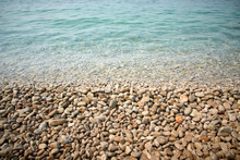 Pebbles On The Beach In The Mo...