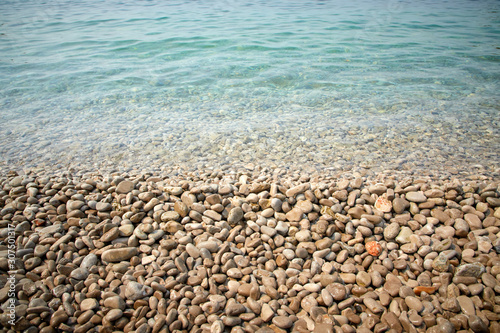 Obraz na plátně pebbles on the beach in the Montenegro