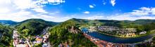 Aerial View Of Neckar River Ag...