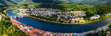 Aerial View Of Neckar River In...
