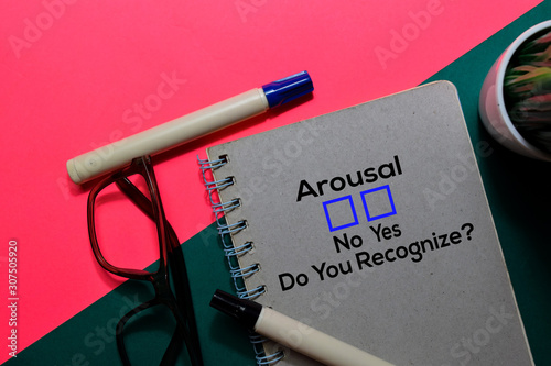 Photo Arousal, Do You Rezognize? Yes or No. On office desk background