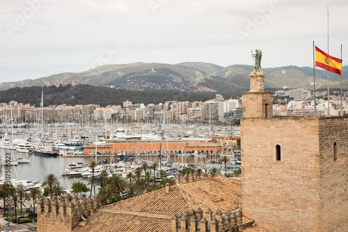 Foto op Aluminium Historisch mon. Spain, Balearic Islands, Mallorca, Palma?de?Mallorca, Scenic view of city