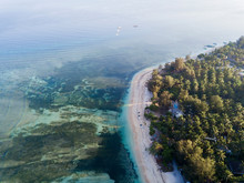 Aerial Scenic View Of Gili-Air...