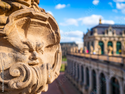 Foto op Plexiglas Historisch mon. Close-up of statue at Zwinger palace against sky in Dresden, Germany