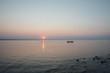 Switzerland, Thurgau, Altnau, scenic view of lake at sunset