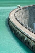 High Angle View Of Dam Speiche...