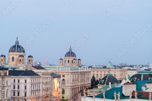 Foto op Aluminium Historisch mon. Kunsthistorisches Museum and buildings against clear blue sky in Vienna, Austria