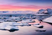 Scenic View Of Jokulsarlon Lag...