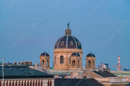 Foto op Aluminium Historisch mon. Exterior of Kunsthistorisches Museum against clear blue sky at Vienna, Austria