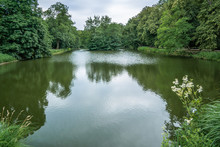 Royal Baths Park In Warsaw In A Summer Day In Poland