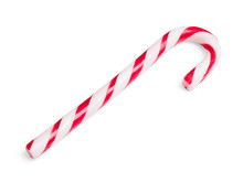 Christmas Candy Cane Isolated On White Background