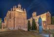 Sunset view of Convent of San Esteban at Salamanca, Spain