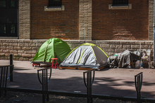 Homeless Tents On Street Tent ...