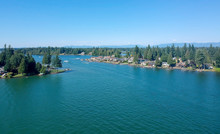 Man Made Lake Tapps On A Beautiful Summer Day In Bonney Lake Washington