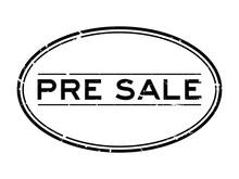 Grunge Black Pre Sale Word Ova...
