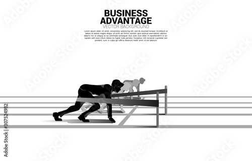 Foto Business concept of competition and business advantage