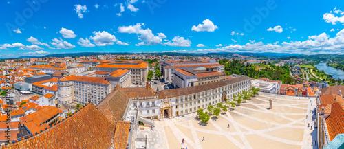 Fototapeta View of the university of Coimbra in Portugal obraz