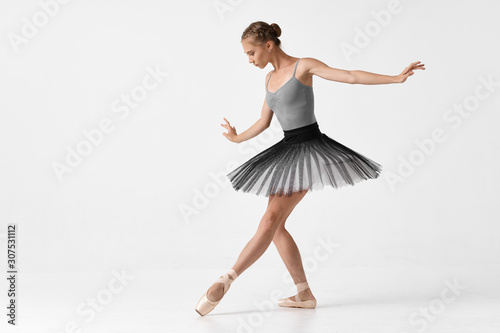 Canvas-taulu ballet dancer in rehearsal