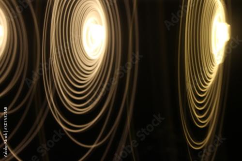 Photo Larga exposición cable de luz