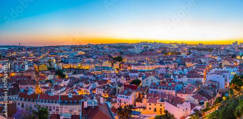 Obraz Aerial view of downtown Lisbon, Portugal - fototapety do salonu
