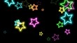canvas print picture Colorful retro stars, abstract background