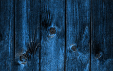 Wood Wall. Natural Pattern Wood Blue Background. Trendy 2020 Year Color.