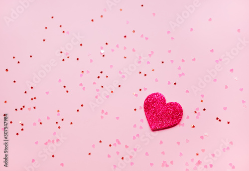 Pink Valentines day background.