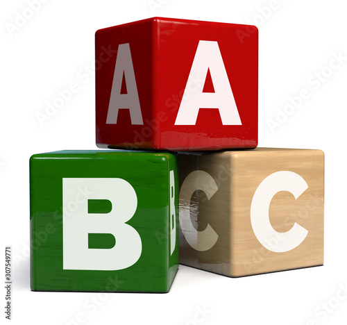 Wooden Alphabet Cubes ABC Toy Canvas Print