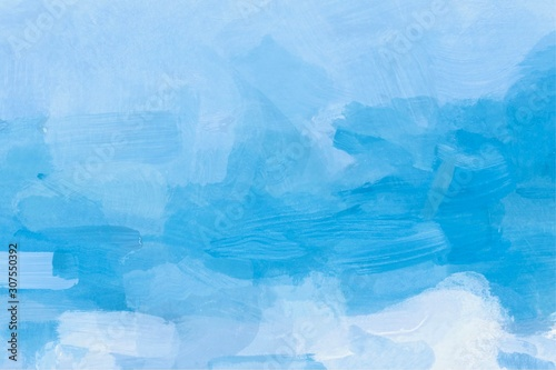 Abstract watercolor hand painted blue background Fototapet