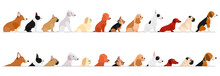Set Of  Side View Small Dogs B...