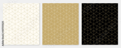 Obraz Background pattern seamless geometric line abstract gold luxury color vector. Christmas background. - fototapety do salonu