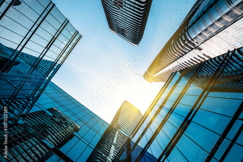 Photo Low angle shot of modern architecture