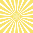 canvas print picture - sun and rays on yellow background.