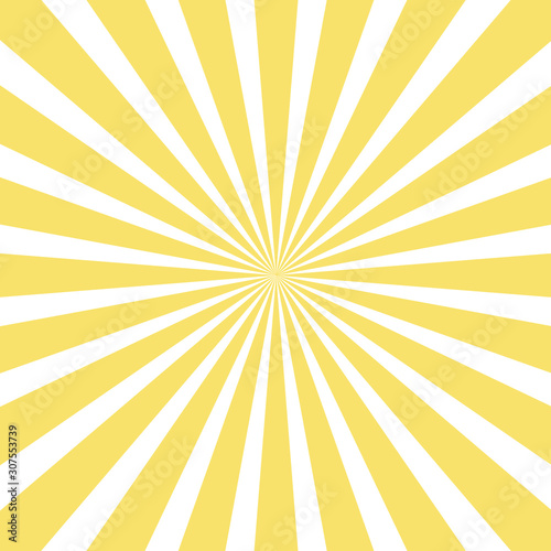 Fotografia, Obraz sun and rays on yellow background.
