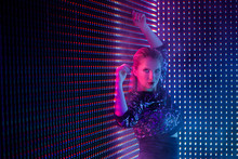 Disco Dancer In Neon Light In ...