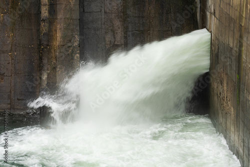 A Powerful Man-Made Waterfall Providing Water to the City Inhabitants