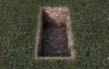 Open Empty Grave Hole
