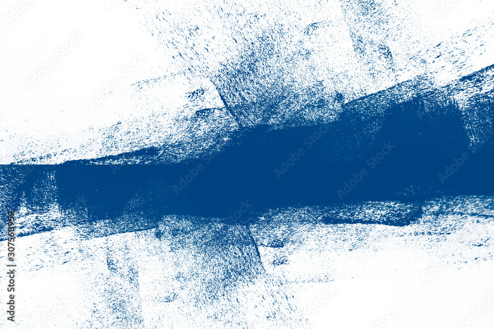 classic blue winter snow and white hand painted background texture with grunge brush strokes6 color of the 2020 year
