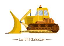 Yellow Modern Landfill Bulldoz...