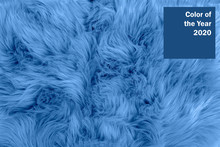 Blue Textured Fur Background. ...