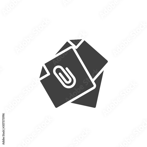 Attached document files vector icon Wallpaper Mural