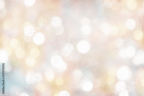 Fotomural blurry background of christmas lights - light pastel colors
