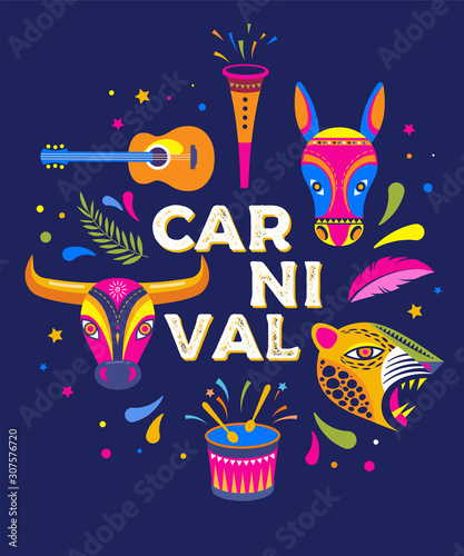 Carnaval de Barranquilla, Colombian carnival party Wallpaper Mural
