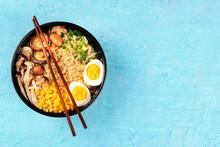 Ramen. Soba Noodles With Eggs,...