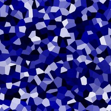 Deep Royal Blue And White Poly...